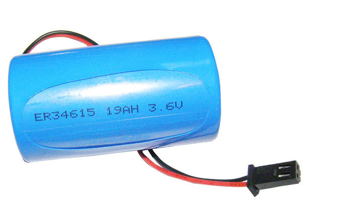 High Power 3.6V ER34615 Cylindrical Li-SOCl2 Battery 19000mAh Eco-friendly