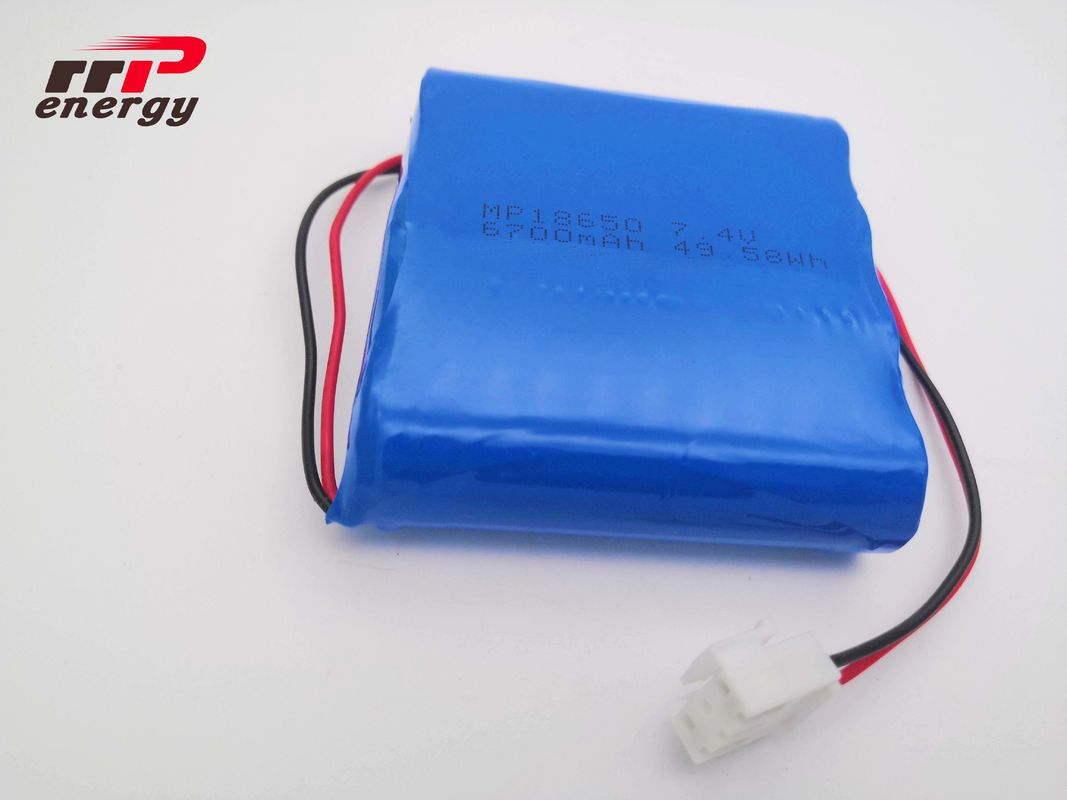 High Energy Capacity 6700mAh Lithium Ion Battery Cells 7.4V 18650 2S2P CB IEC