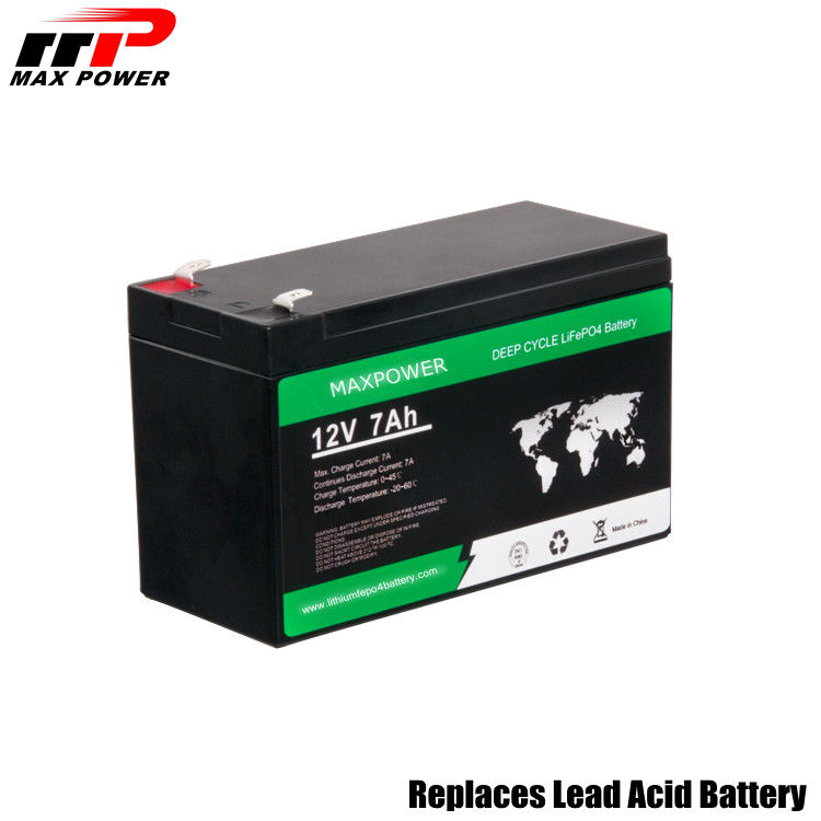 Light Weight Rechargeable Lithium Lifepo4 Battery 12v 7ah 92.16wh 2P4S Cell